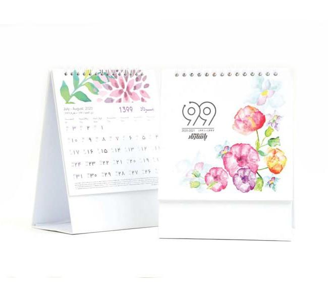 تقویم رومیزی مثلثی طرح گل کد 705