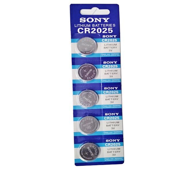 باتری سکه ای سونی مدل CR 2025 بسته 5 عددی