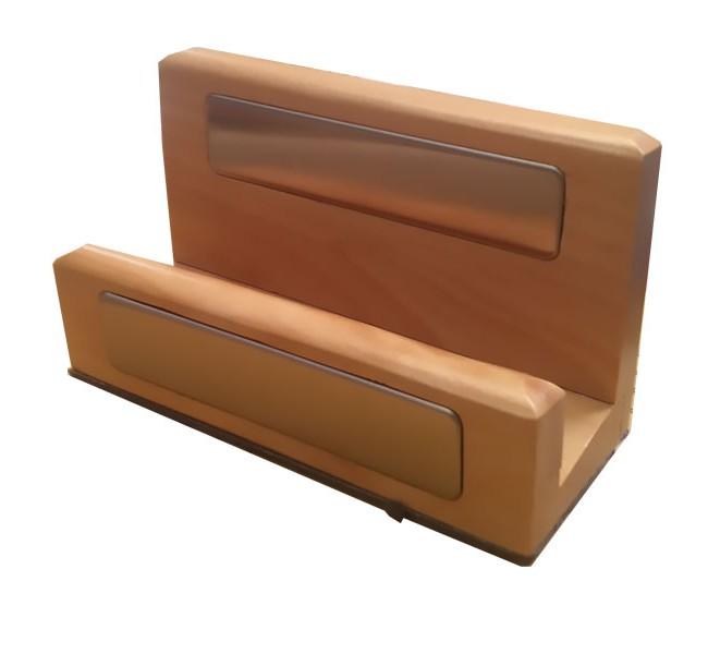 جای کارت ویزیت تمام چوب رنگ چوب