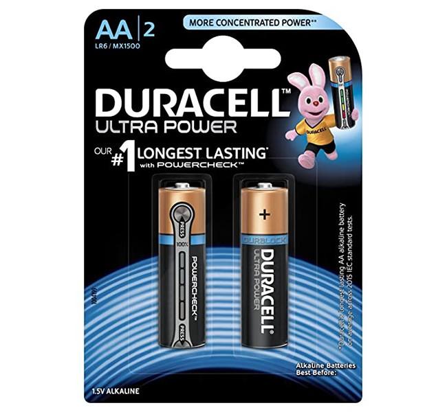 باتری قلمی دوراسل مدل Ultra Power بسته 2 عددی