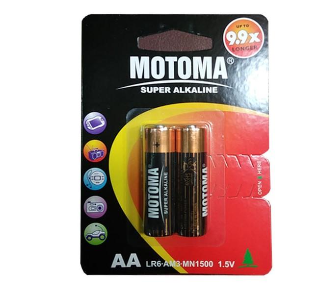 باتری قلمی آلکالاین MOTOMA مدل LR-6 بسته 2 عددی