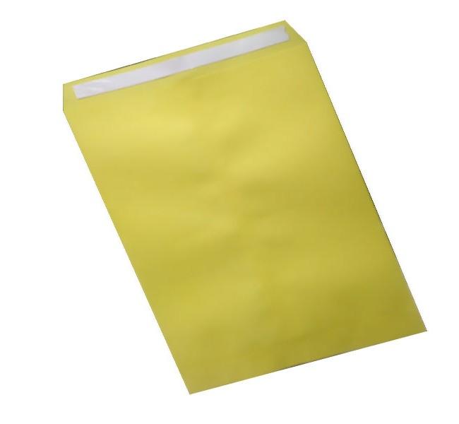 پاکت اداری سایز A4 زرد سر چسب دار