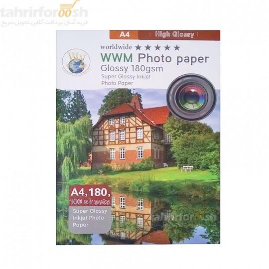 کاغذ A4 فتوگلاسه 180 گرم WM
