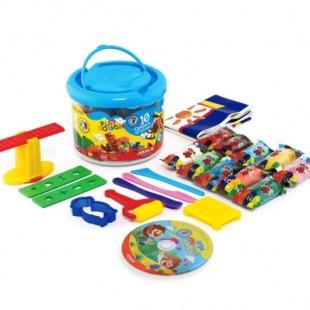 خمیر بازی 10 رنگ سطلی آریا