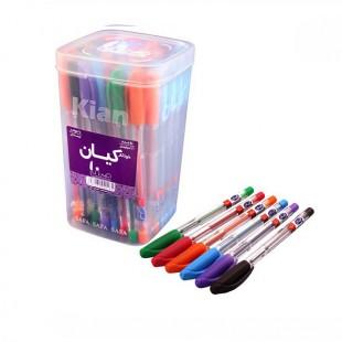 خودکار کیان رنگی بسته 50 عددی