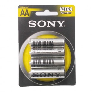 باتری قلمی کارتی بسته 4 عددی  SONY