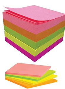 کاغذ یادداشت سفید - پست ایت - کاغذ یادداشت رنگی