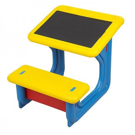 میز تحریر کودک پلاستیکی با تخته سیاه گچی