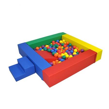 استخر توپ فومی مربع به همراه پله و سرسره