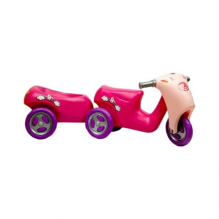 موتورپایی با یدک کش صورتی/سه چرخه دخترانه