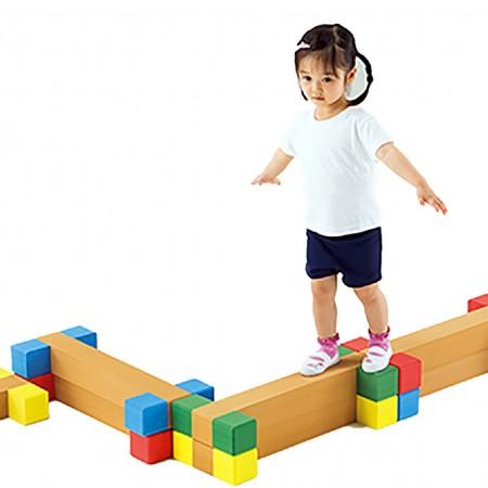 مجموعه چوبی ورزشی آجر های چوبی 60 سانتیمتری کد 1210