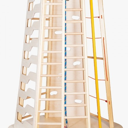 مجموعه چوبی ورزشی ستون نردبانی کد 1216