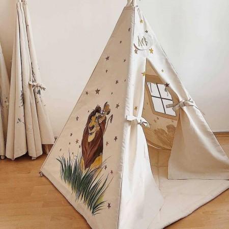 چادر بازی کودک مدل سرخپوستی شیرشاه