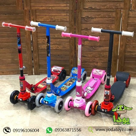 اسکوتر سه چرخ چراغدار کودک مدل هپی ایج happy age