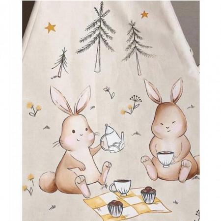 چادر بازی کودک مدل سرخپوستی طرح خرگوش های دوقلو