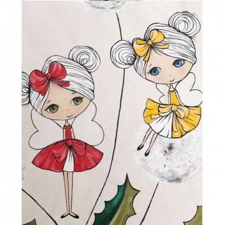 چادر بازی کودک مدل سرخپوستی طرح دختران دوقلو