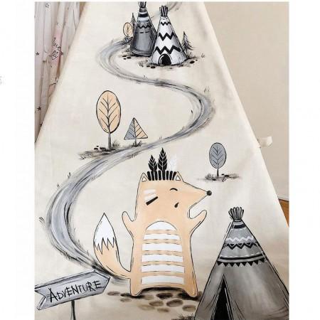 چادر بازی کودک مدل سرخپوستی طرح راسو