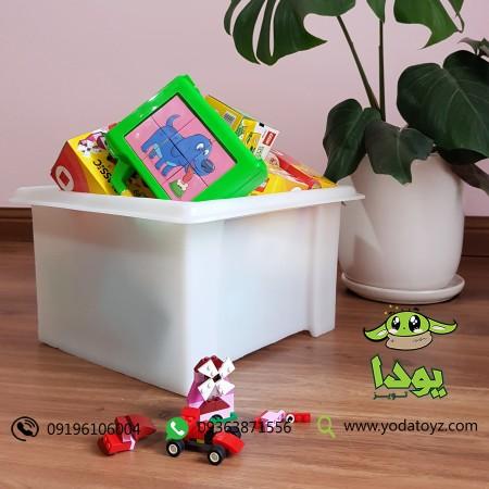 باکس اسباب بازی اتاق کودک رنگ سفید