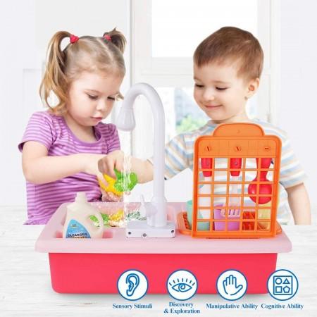 سینک ظرفشویی کودک با قابلیت ریزش آب مدل wdp42a