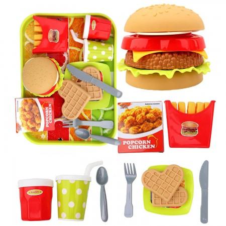 ست فست فود اسباب بازی با همبرگر و سیب زمینی برند nitoys