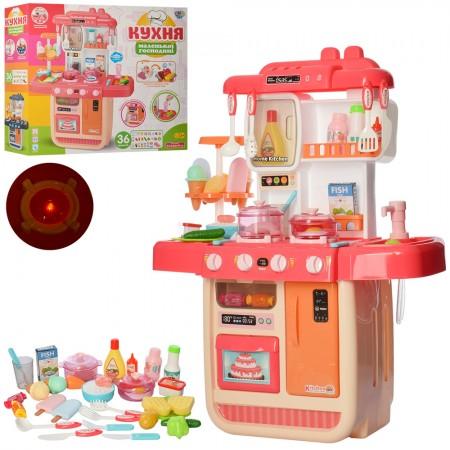 آشپزخانه اسباب بازی دارای سینک ظرفشویی با قابلیت ریزش آب و بخار و لوازم جانبی wdp33