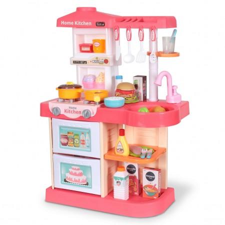 آشپزخانه اسباب بازی دارای سینک ظرفشویی با قابلیت ریزش آب و لوازم جانبی مدل wdp37