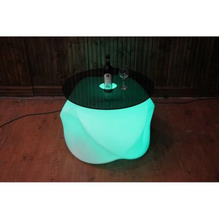 میز عسلی نورانی (led) جلو مبلی مدل اکس (x) ارتفاع 52 سانتیمتر