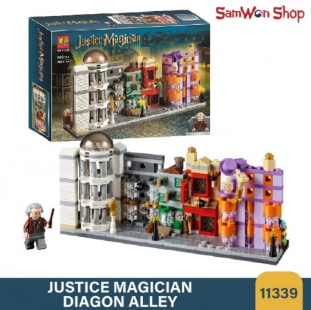لگو بازی LARY مدل justice magician کد 11339- لگو بازی کوچه ی مدرسه جادوگری