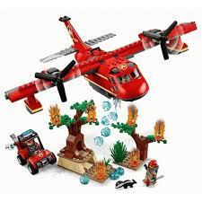 لگو بازی LARY مدل cities کد 11214- لگو بازی کودکان مدل هواپیمای آتشنشان