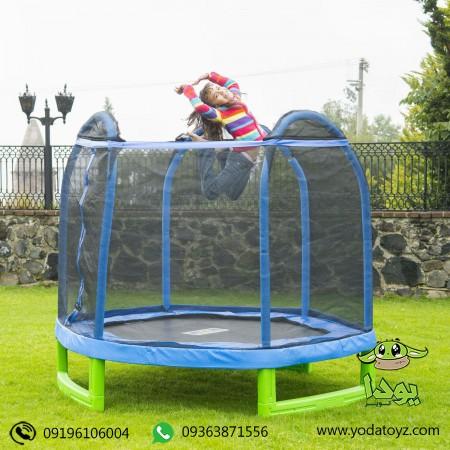 ترامپولین کودک بزرگ ( دو نفره ) قطر 210 سانتی متر وارداتی golden playmart