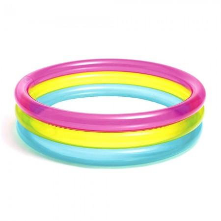 استخر بادی اینتکس گرد سه رنگ ابعاد 86 * 25 سانتیمتر مدل 57104  intex