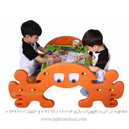 الاکلنگ و نیمکت دو کاره کودکان مدل خرچنگ maneli