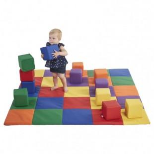سازه فومی مدل فرش و مکعب رنگی