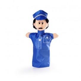 پاپت دستی مخملی مدل آقای پلیس