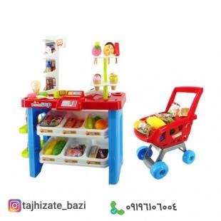 سوپرمارکت سبد خرید لوکس کودکان-بازی مشاغل