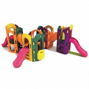 مجموعه پلی اتیلنی چهار سرسره و چهار برج بازی کودک