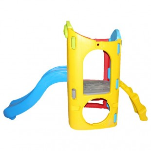 مجموعه پلی اتیلنی تک برج و دیواره صخره نوردی بازی کودک