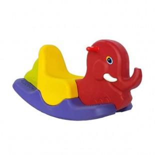 الاکلنگ و تعادلی چند تکه پلی اتیلنی کودک مدل فیل