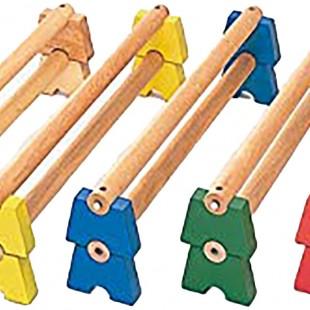 مجموعه چوبی آجر های چوبی 100 سانتیمتری کد 1212