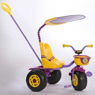 سه چرخه کودک با دسته کنترل هدایت جی تویز مدل دابل داک