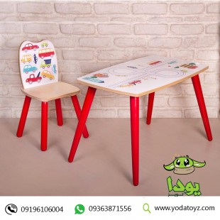 ست میز و صندلی چوبی کودک پسرانه