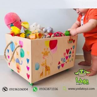 باکس چوبی اسباب بازی اتاق کودک