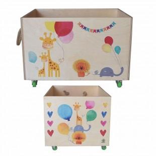 جعبه اسباب بازی چرخدار