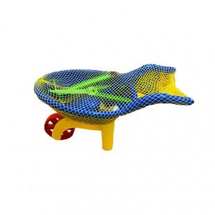 ست وسایل شن بازی شامل فرغون، بیلچه و آبپاش