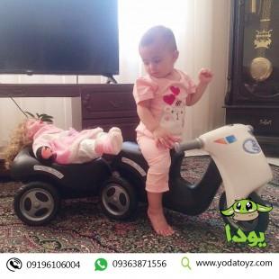 موتورپایی با یدک کش مشکی