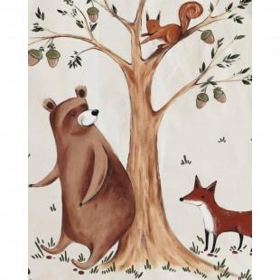چادر بازی سرخپوستی پنجره دار کودک طرح خرس میشا