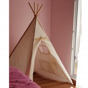 چادر بازی کودک سرخپوستی با پنجره و جیب ( آماده )