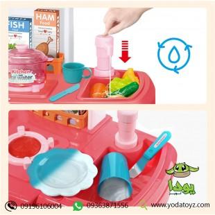 آشپزخانه کودک بزرگ با قابلیت ریزش آب از سینک