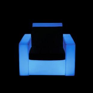 مبل نورانی پلی اتیلنی تک نفره مدل مربع