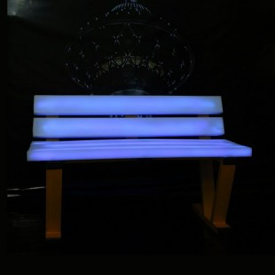 نیمکت باغی نورانی led